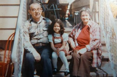 This is me with my awesome grandparents!