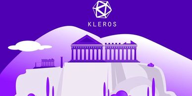 Kleros blockchain dispute resolution crypto currency  tokens