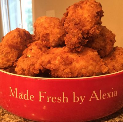 Alexia's lip smackin Southern style Fried Chicken!!