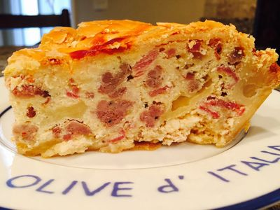 """Pizza Rustica"" a traditional Italian Easter pie! Buona Pasqua!"
