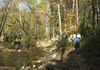 History & Nature hike: hikers on the Rachel Carson Trail.
