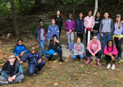 White Oak M.S. cleanup helpers