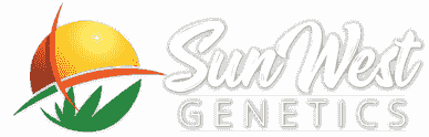 Sun west genetics marijuana seeds logo