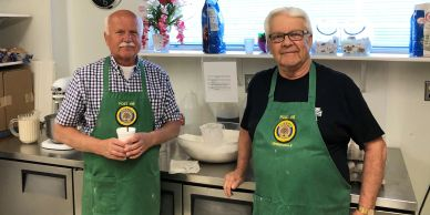Stan Pinkowski, Mike Matusewic, Memorial Day Pancake Breakfast starting from the basic