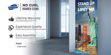 ROC Photographic Printing Banner Stand
