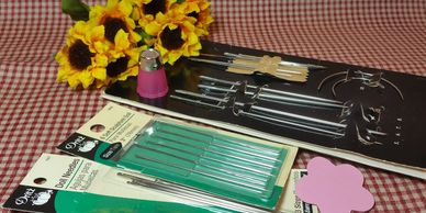 Dritz Long Doll Needles and assorted supplies