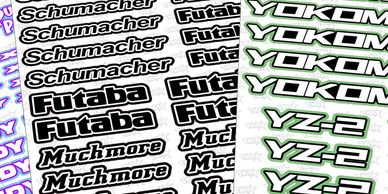 CUSTOM SPONSOR DECAL SHEETS FOR YOUR REMOTE CONTROL MODEL