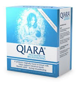 The Qiara range includes Qiara Pregnancy & Breastfeeding, which may help to relieve or reduce breast pain and discomfort associated with mastitis, reduce the recurrence of mastitis and maintain a healthy microflora system.