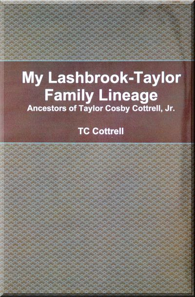 My Lashbrook-Taylor Family Lineage Book Cover