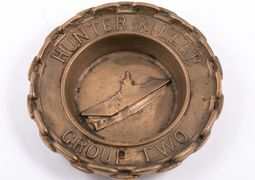 "Commanding Admiral or Wardroom custom crafted ashtray for ""Hunter Killer Group Two"", circa 1942–1945"