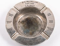 Portsmouth Naval Shipyard manufactured ashtray used by Commanding Officer Submarine Division 322