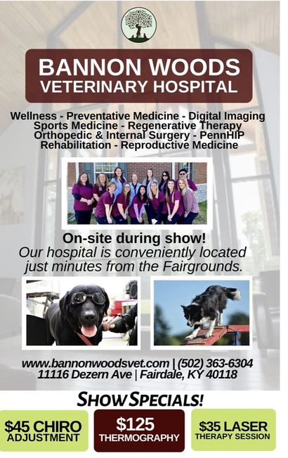BANNON WOODS VETERINARY HOSPITAL KENTUCKIANA CLUSTER SPONSOR
