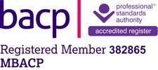 MBACP Registered Member  Member of British Association for Counselling and Psychotherapy