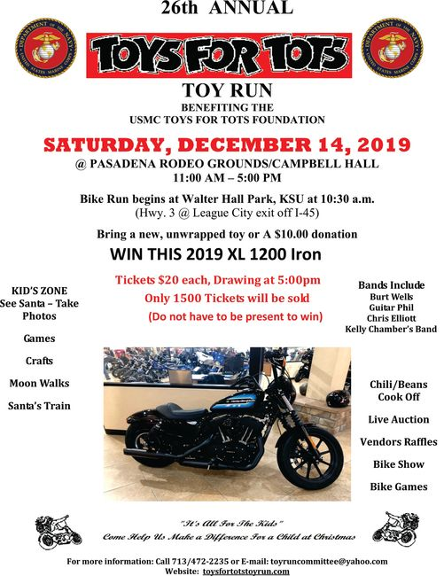 2019 Toy Run for The Marine corp Toys For Tots Foundation