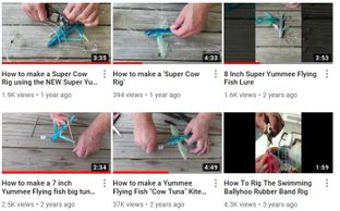 Yummee Flying Fish-Fishing Lures- How-To Videos.