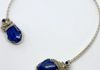 Sterling Lapis wire woven choker $260