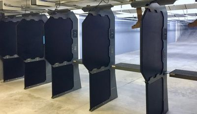 Indoor shooting range, 10 lanes, 25 yards, climate controlled.