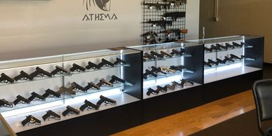 Handgun, pistol, rifle, shotgun sales and service center.