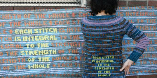 Each stitch is integral to the strength of the whole sweater & wall mural