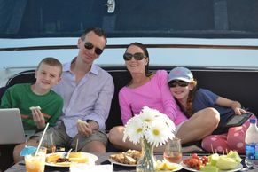 lunch with family on Bonaparte fwd deck