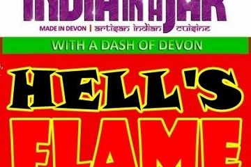 Hell's Flame - Indian Naga Chilli Sandwich Pickle (Volcanic Heat), Indian Green Chilli- Extra Hot, I