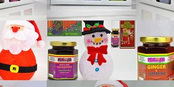 Festive Gift Set packs from India in a Jar  Let's Celebrate Christmas with India in a Jar. Food Gift