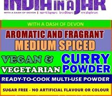 AROMATIC AND FRAGRANT LOW FAT VEGAN AND VEGTARIAN CURRY spice powder blend also works well with any