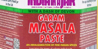 GARAM MASALA PASTE BY INDIA IN A JAR COOKING PASTE MARINADE RUB GLAZE INDIAN SPICE MIX