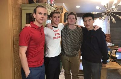 (L-R): CURE co-founder Kenneth Warren with members Noah Schuerhoff, CJ Chidlow and Matthew Cheung.