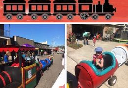 Trackless Train for Birthday Parties and Company Events! MLRmagic.com Lafayette La Family Fun