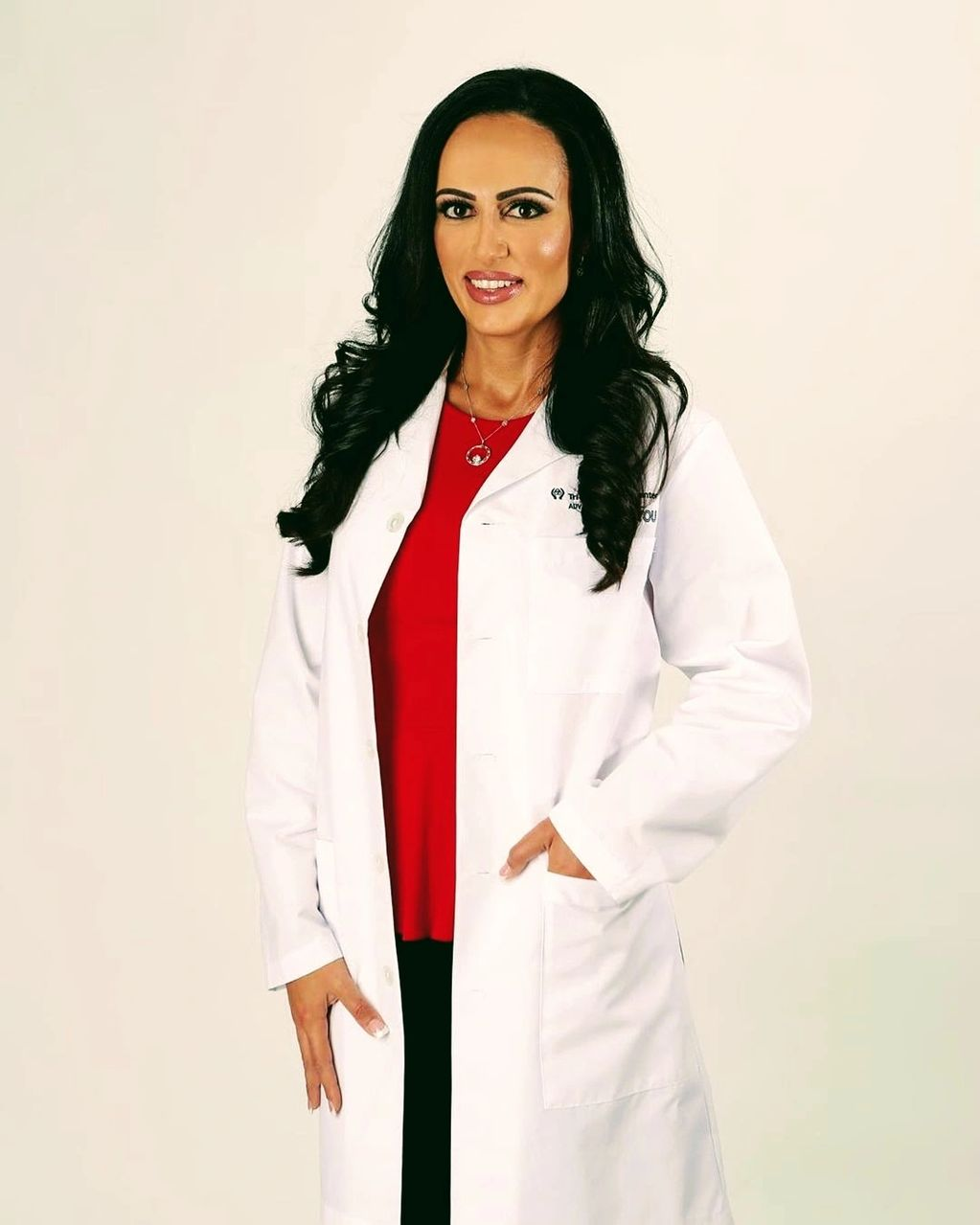 Dr nina chaya MD posing for tri-city district 7 board. dr nina chaya md is in tri-city election