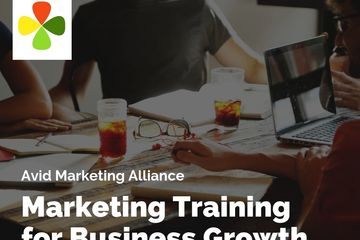 an image banner which states marketing training for business growth.