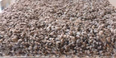 Flecked plush carpet