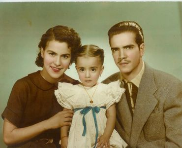 Martha (Mom), Guadalupe (sister) and Manuel Sr. (Dad)