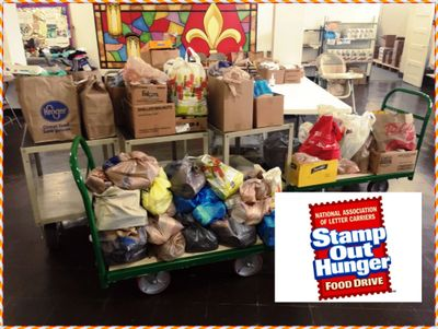 We are grateful for the donations to God's Pantry from the 2019 USPS Stamp Out Hunger program