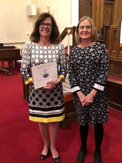 2019 Woman of the Year, Sally Gower (left) and Women's Association President, Suzie Hunter (right)