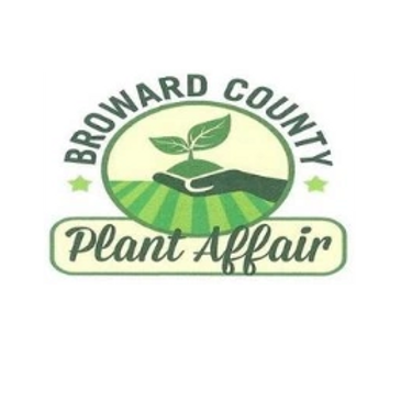 Logo of the Broward County Plant Affair. A hand holding a sapling in some dirt.