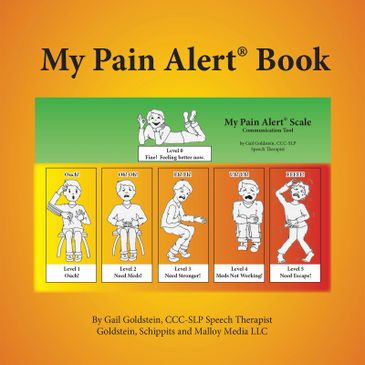 Cover of our ebook, My Pain Alert Book, which makes communicating pain needs easier.