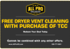 Save money on dryer vent cleaning.