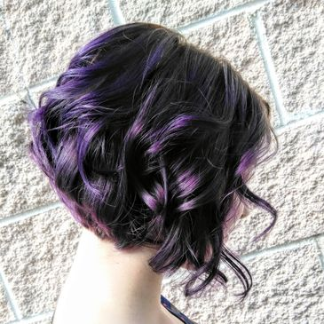 Beautiful purple color, cut and style by Gospel