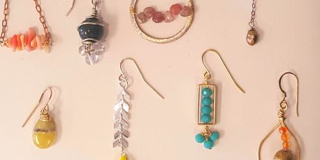Wire-wrapping beads onto chain, on headpins, and or loose wire.