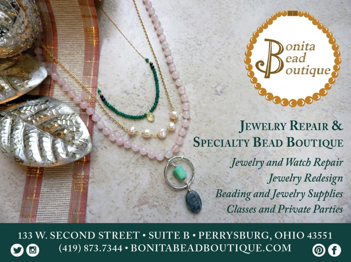 Jewelry and Watch Repair, specialty bead boutique in Perrysburg, Ohio