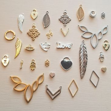Classic & Modern Charms, Connectors, and Pendants for Necklaces and bracelets.