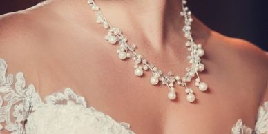 Beaded jewelry for brides and bridesmaids,  special order and custom design for brides.