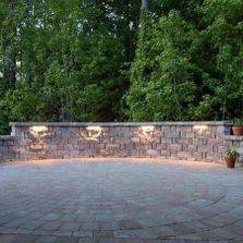 Paver patio Retaining wall  with sitting Wall