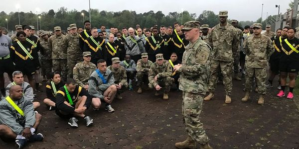 "Telling my ""Story of Hope"" to soldiers."