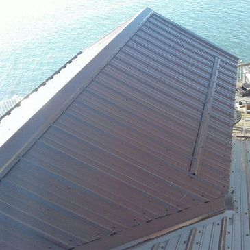 metal roofing on Lake Erie