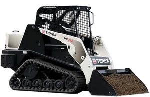 positrack skid steer bobcat hire newcastle lake Macquarie Belmont thornton 4 in 1 tilt bucket