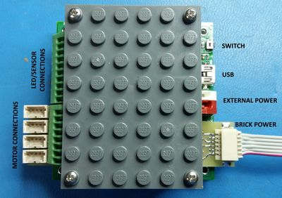 Brick Controller ONE, will control 4 motors and 4 LED light sources