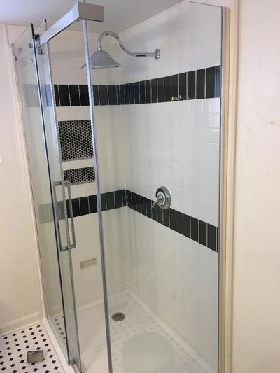Shower done by AEC Contracting Inc.